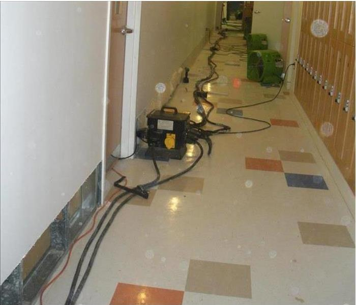 Commercial water damage in Beacon
